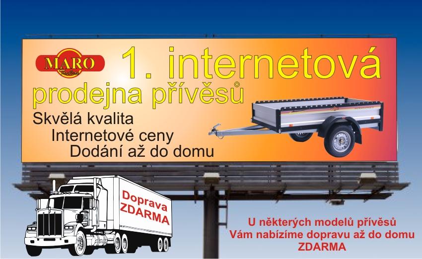 1. internetová prodejna přívěsů