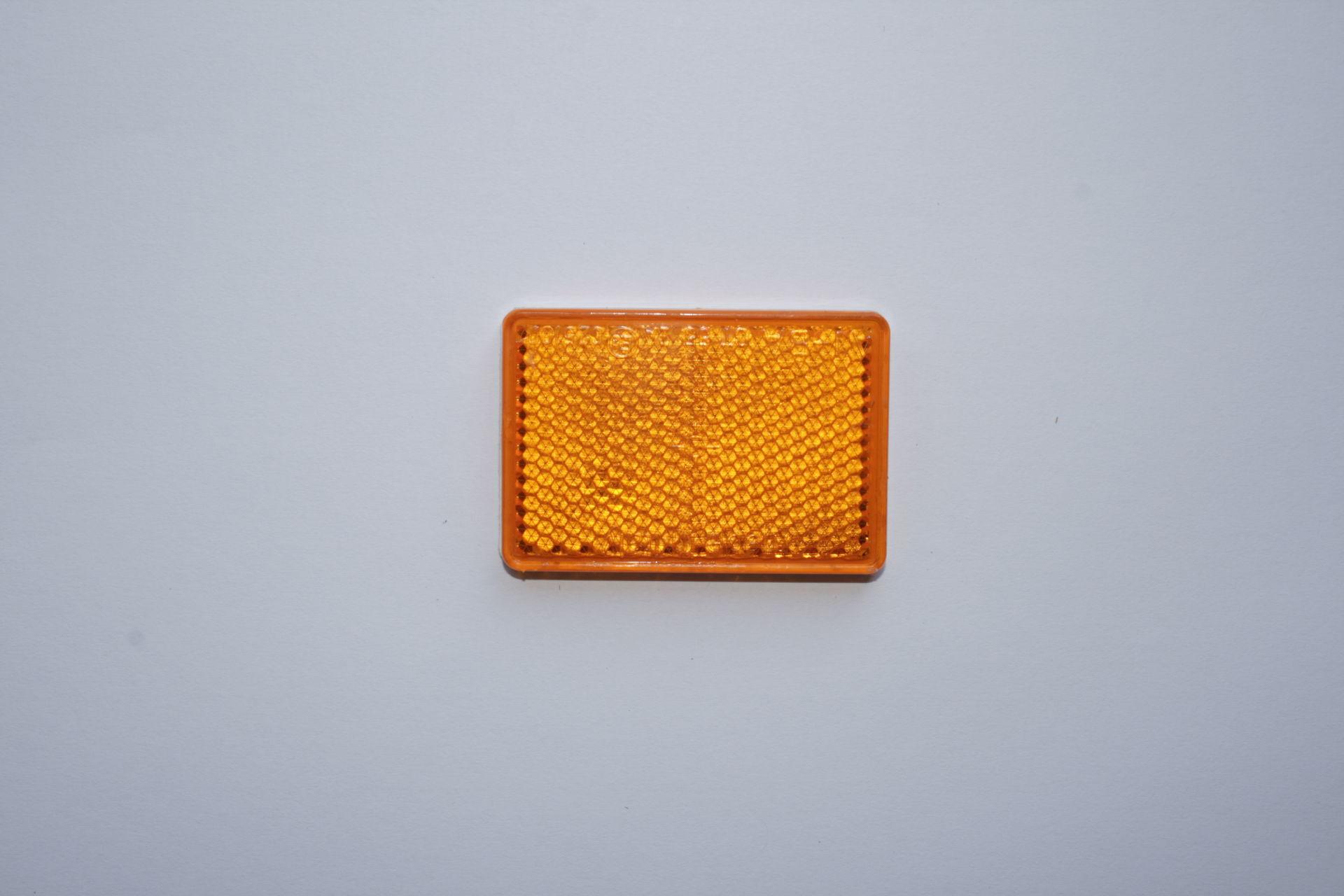 Odrazka oranžová obdélníková (boční)