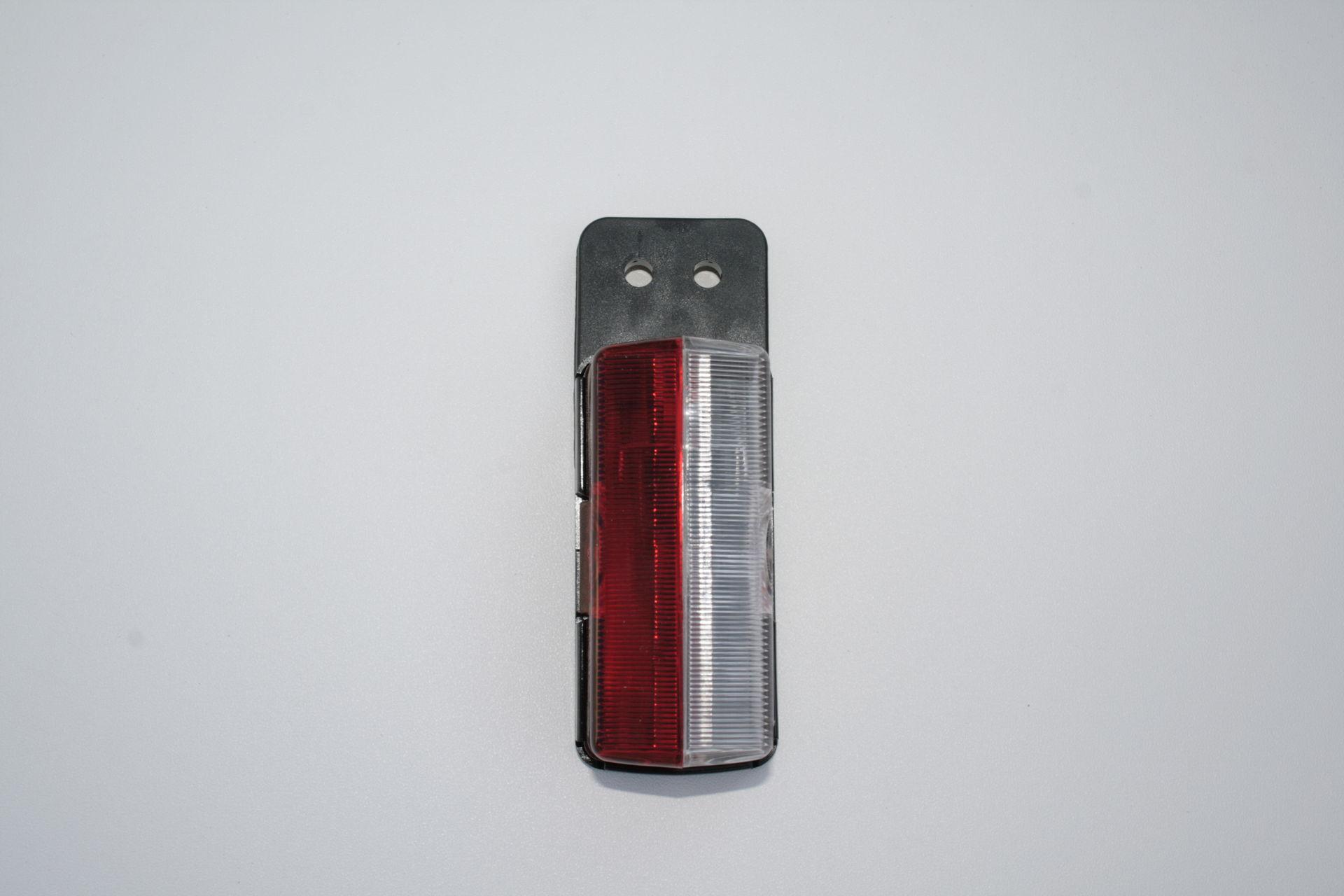 Poziční světlo červenobílé s gumovým držákem