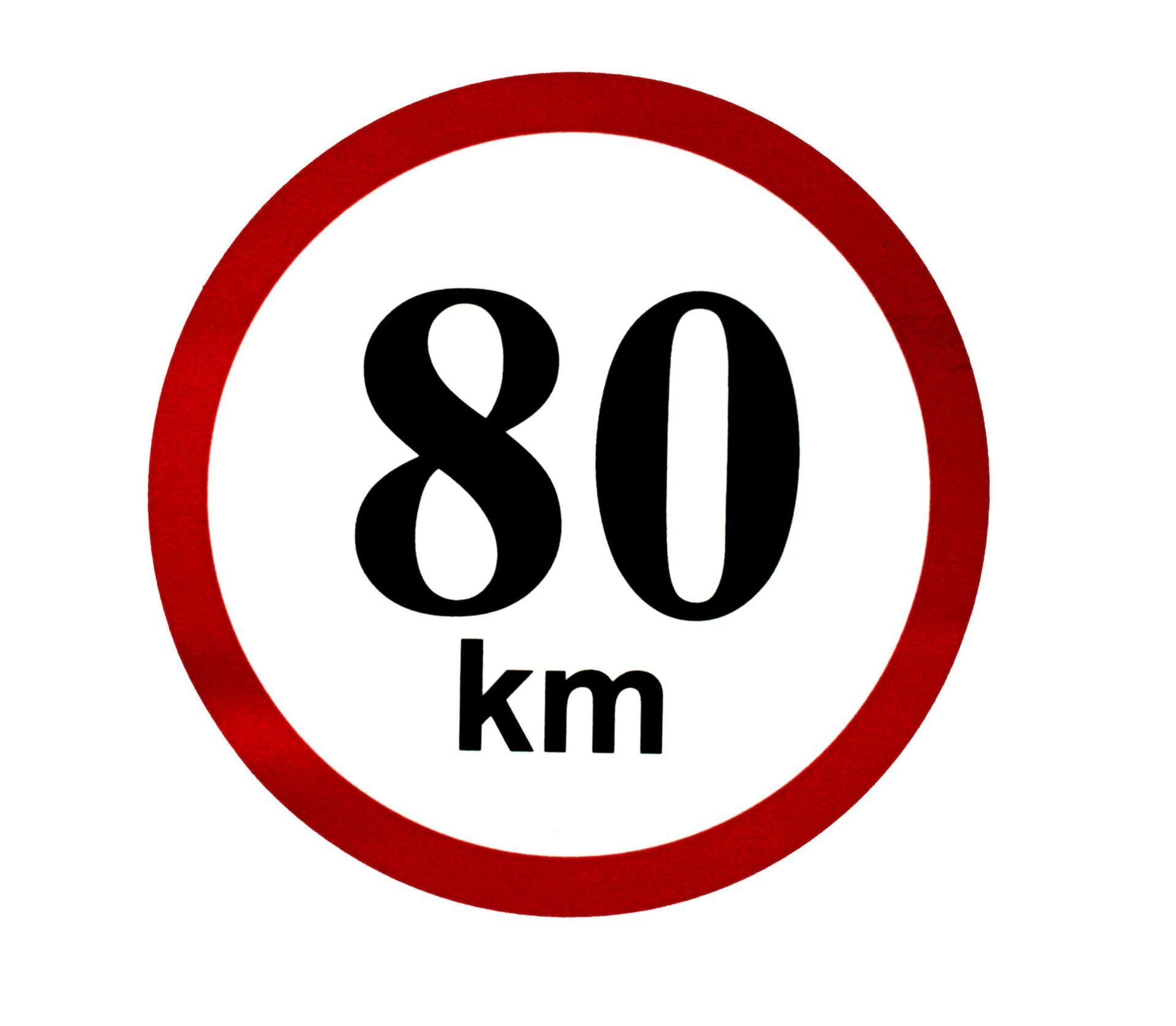 Omezení rychlosti 80 km/h
