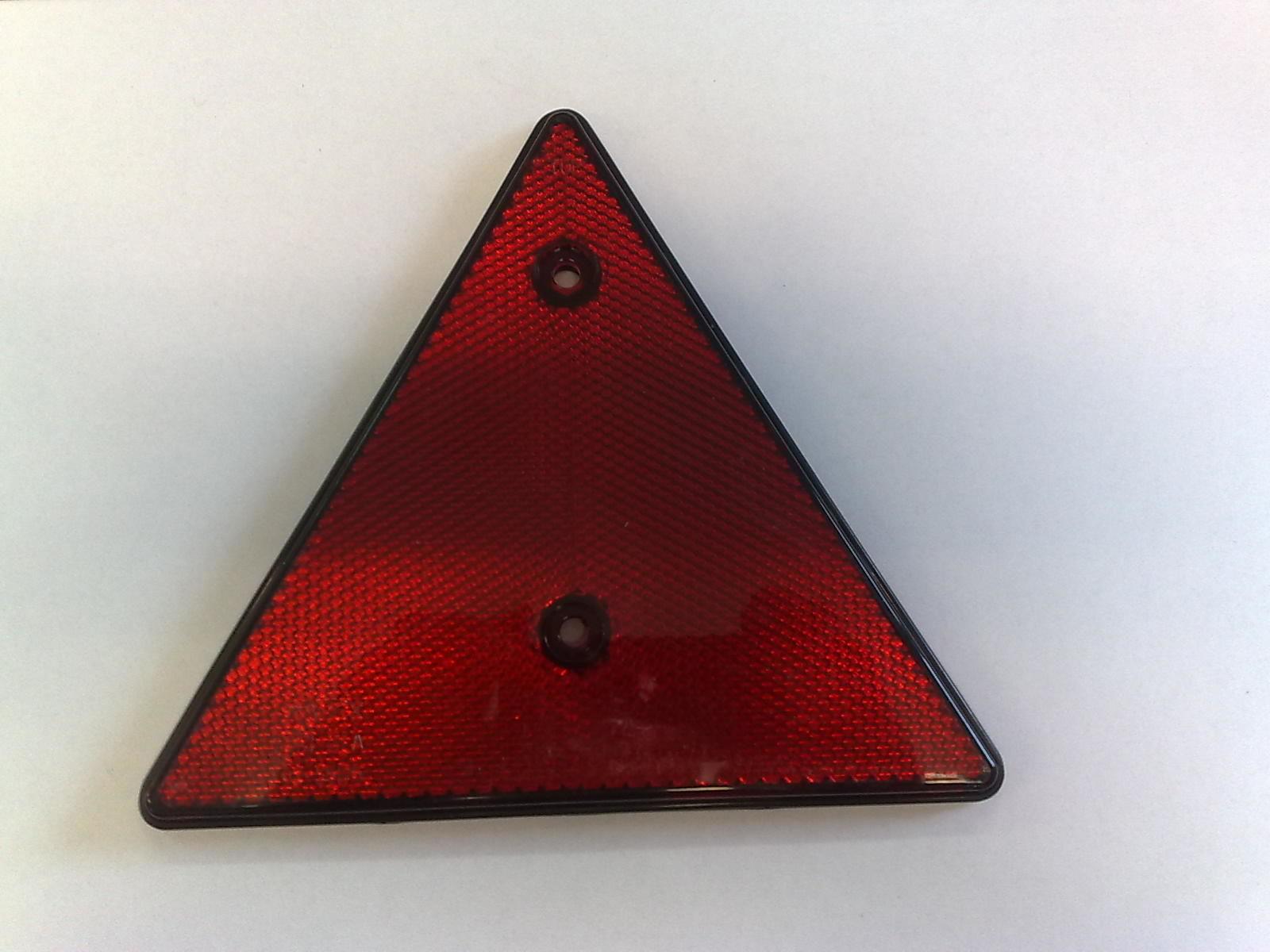 Odrazka trojúhelníková červená